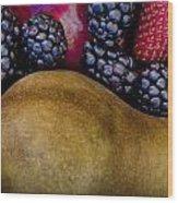 Pair Or Pear Wood Print