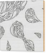 Paisley Sun Wood Print by Tessa Hunt-Woodland