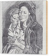 Pakistani Mother And Child Wood Print by John Keaton
