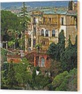 Palace Of The Arabian King - Ronda Wood Print