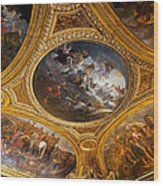 Palace Of Versailles Ceiling Wood Print