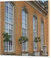 Palace Windows And Topiaries Wood Print