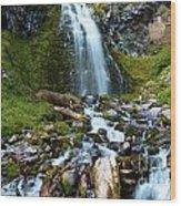 Palaikni Falls Valley Wood Print