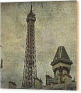 Pale Paris Wood Print by Georgia Fowler