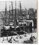 Palermo Sicily - Shipping Scene At The Harbor Wood Print