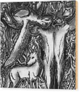 Palindrome Twelve Wood Print