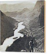 Palisades Railroad View - California - C 1865 Wood Print