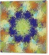 Pallet Of Colors Wood Print