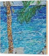 Palm 06 Wood Print