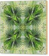 Palm Kaleidoscope 6 Wood Print
