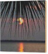 Palm Set Wood Print