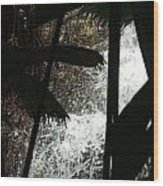 Palm Silhouette Wood Print