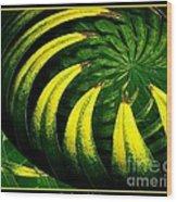 Palm Tree Abstract Wood Print