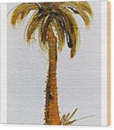 South Carolina Palm Tree Wood Print