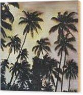 Palm Tree Sky Wood Print