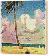 Palm Two Wood Print