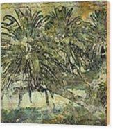 Palms Haiku Wood Print