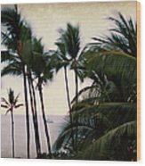 Palms In The Breeze Wood Print