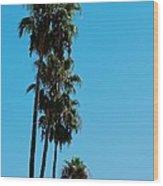 Palms Over Oak Wood Print