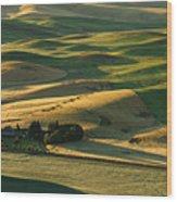 Palouse Hills Wood Print