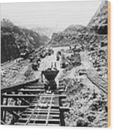 Panama Canal - Construction At The Culebra Cut - C 1910 Wood Print