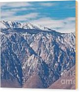 Panamint Mountain Range In Death Valley  Wood Print