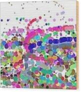 Pandemonium Of Colours Wood Print
