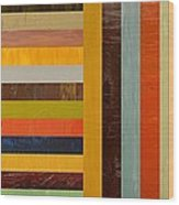 Panel Abstract - Digital Compilation Wood Print by Michelle Calkins