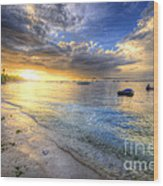 Panglao Island Sunrise Wood Print