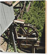 Panning For Gold In Virginia City Nevada Wood Print