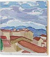Panorama Florence Wood Print
