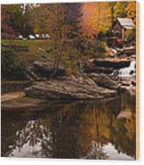 Panorama  Glade Creek Mill Wood Print