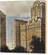 Panorama Of Manhattan Downtown  Wood Print