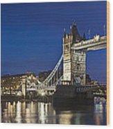 Panorama Of Tower Bridge And Tower Of London Wood Print