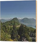 Panorama View Over Mountain Wood Print