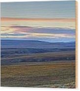 Panoramic At Sunset Along The Dempster Wood Print