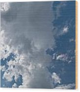 Panoramic Clouds Number 1o Wood Print
