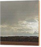Panoramic Hilltop View Wood Print
