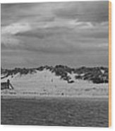 Panoramic Of Lossiemouth Beach On West Coast Of Scotland Wood Print