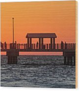 Panoramic Pier Wood Print