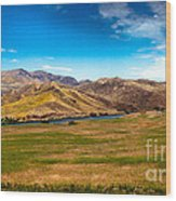 Panoramic Range Land Wood Print