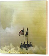 Panoramic Us Army Graduation Wood Print by Michael Waters