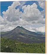 Panoramic View Of A Volcano Mountain  Wood Print