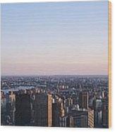Panoramic View Of Manhattan Wood Print