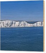 Panoramic View Of Sailboats On Sea Wood Print