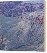 Panoramic View Of The Grand Canyon Wood Print