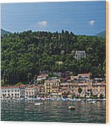 Panoramic View Of Toscolano-maderno Wood Print