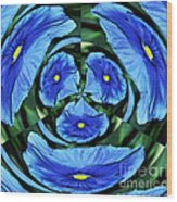 Pansy In Triplicate Wood Print