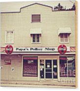 Papa's Poboy's Wood Print by Scott Pellegrin