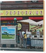 Papaya King Wood Print